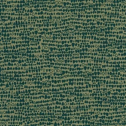 Carolyn Friedlander Gleaned, Reptile in Holly, Fabric Half-Yards AFR-17291-240
