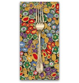 PD's Robert Kaufman Collection Gustav Klimt, Rings in Multi, Dinner Napkin