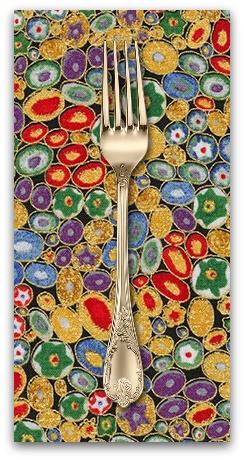 PD's Robert Kaufman Collection Gustav Klimt, Rings in Multi, Dinner Napkin