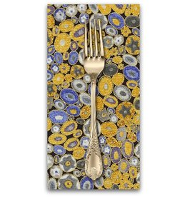 PD's Robert Kaufman Collection Gustav Klimt, Rings in Cobalt, Dinner Napkin