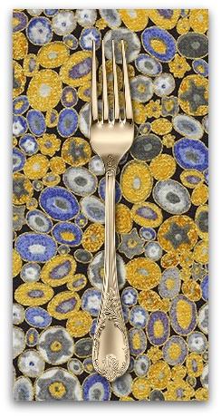 PD's Robert Kaufman Collection Gustav Klimt, Rings in Cobalt, Dinner Napkin