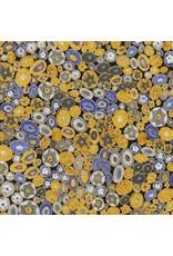 Robert Kaufman Gustav Klimt, Rings in Cobalt, Fabric Half-Yards AFR-17183-72