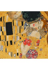 "Robert Kaufman Gustav Klimt, The Kiss, Panel in Gold, 24"" Fabric Panel"