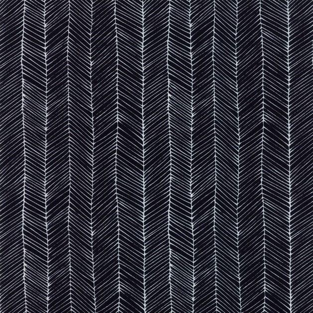 Gingiber Catnip, Kitten Lines in Black, Fabric Half-Yards 48234 14
