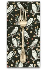 PD's Dear Stella Collection Owls in Coffee, Dinner Napkin