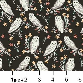 Dear Stella Owls in Coffee, Fabric Half-Yards Stella-900