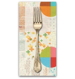 PD's Moda Collection Modern BG Colorbox, Panel in Porcelain, Dinner Napkin