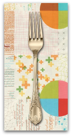 PD's Moda Collection Modern BG Colorbox, Panel in Porcelain, Dinner Napkin