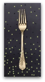 PD's Moda Collection Ombre Confetti in Onyx, Dinner Napkin
