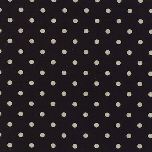 Moda Linen Mochi Homegrown Dot in Black, Fabric Half-Yards 32910 21L