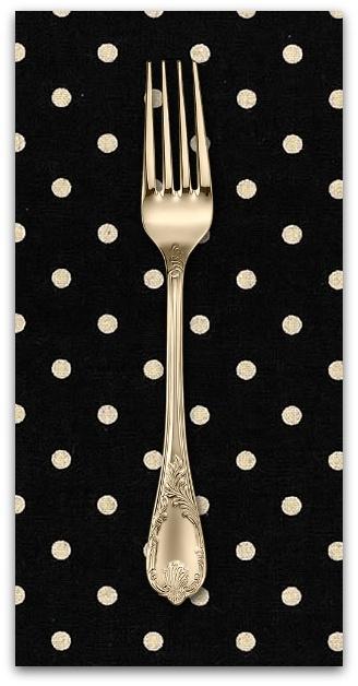 PD's Linen Blend Collection Linen Mochi Homegrown Dot in Black, Dinner Napkin