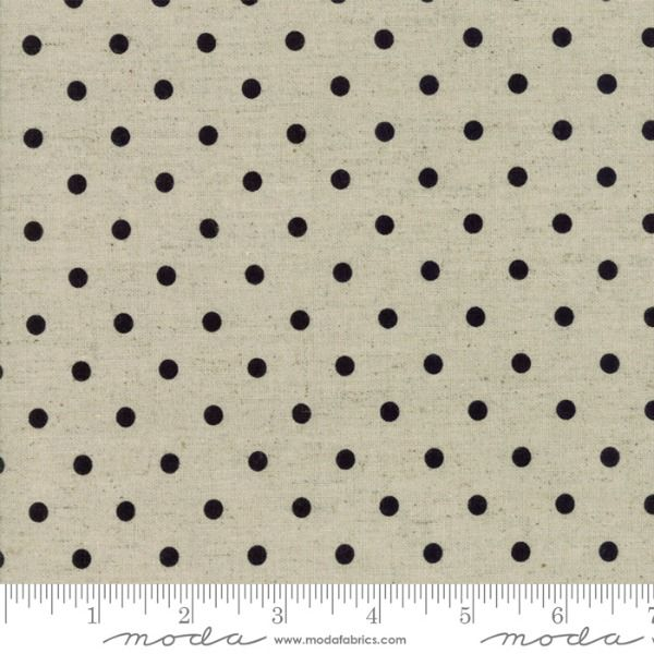 Moda Mochi Homegrown Dot in Black on Linen, Fabric Half-Yards 32910 61L