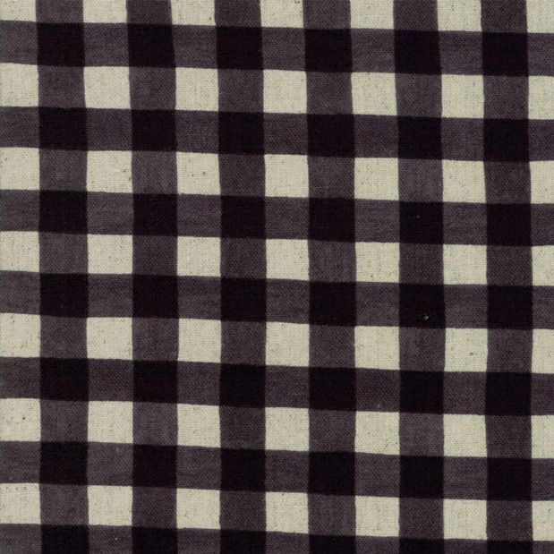 PD's Linen Blend Collection Mochi Homegrown Gingham in Night Sky on Linen, Dinner Napkin