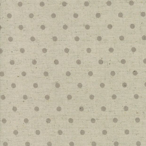 Moda Mochi Homegrown Dot in Putty on Linen, Fabric Half-Yards 32910 63L
