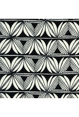 Sarah Watts Rayon, Santa Fe, Pottery in Black, Fabric Half-Yards