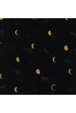 Sarah Watts Santa Fe, Moon Phase in Night with Metallic, Fabric Half-Yards S2067-002