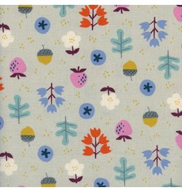 Kim Kight Welsummer, Forage in Gray, Fabric Half-Yards K3059-002