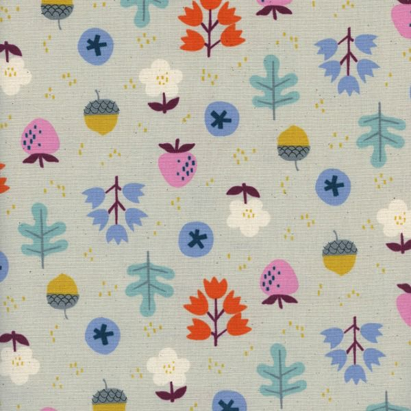PD's Kim Kight Collection Welsummer, Forage in Gray, Dinner Napkin