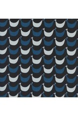 Kim Kight Welsummer, Flock in Black, Fabric Half-Yards K3060-001