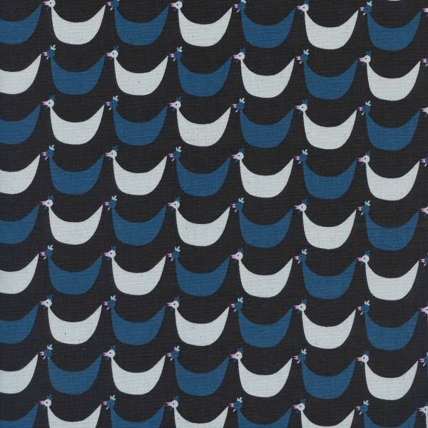 PD's Kim Kight Collection Welsummer, Flock in Black, Dinner Napkin