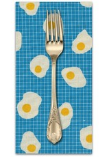 PD's Kim Kight Collection Welsummer, Fried Eggs in Bright Blue, Dinner Napkin