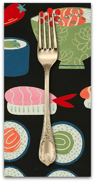 PD's Alexander Henry Collection Nicole's Prints, This Is How I Roll in Black, Dinner Napkin