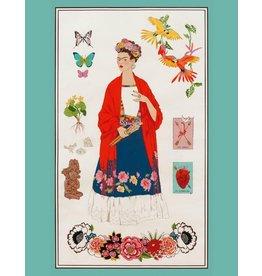 "Alexander Henry Fabrics Folklorico, L'Artista Frida Con Alma in Brite, 24"" Fabric Panel 8614ARR"