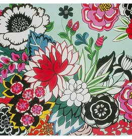 Alexander Henry Fabrics Folklorico, Garden at Coyoacan in Aqua, Fabric Half-Yards 8615A
