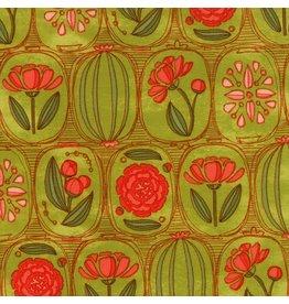 Moda Blushing Peonies, Floral Cameos in Sprig, Fabric Half-Yards 48611 15