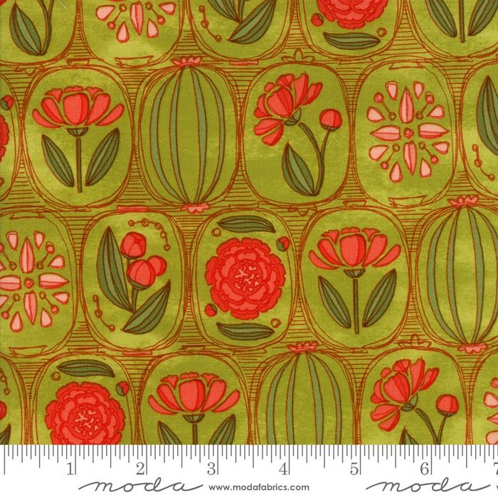 Moda Blushing Peonies, Peonies in Sprig, Fabric Half-Yards 48611 15