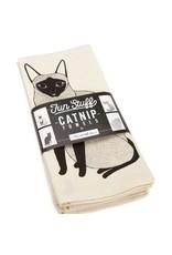 "Gingiber ""Catnip"" Tea Towels by Gingiber, Fun Stuff -Set of 4"