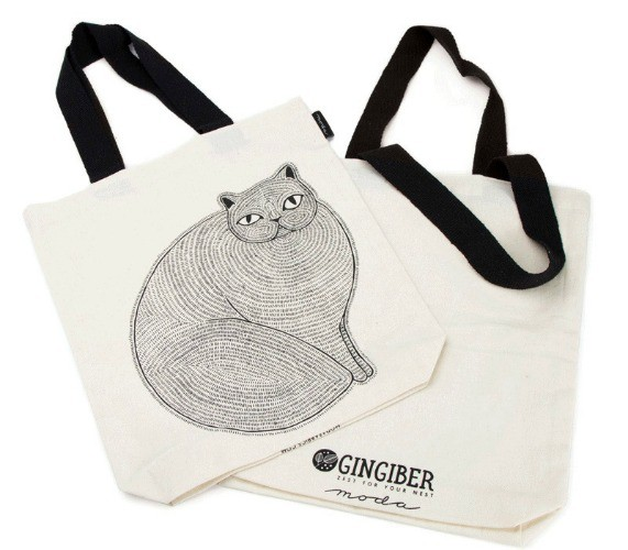 "Gingiber ""Catnip"" Tote Bag by Gingiber, Fun Stuff"