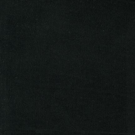 Robert Kaufman Corduroy 21 Wale in Black, Fabric Half-Yards C142-1019