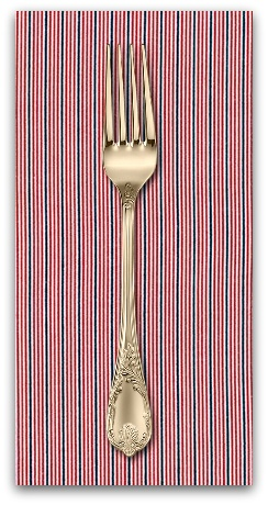 PD's Robert Kaufman Collection Sevenberry, Micro Classics in Red, Dinner Napkin