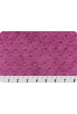 Shannon Fabrics Cuddle Dimple Minky in Raspberry, Fabric Half-Yards