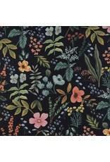Rifle Paper Co. Linen/Cotton Canvas, Amalfi, Herb Garden in Midnight, Fabric Half-Yards AB8054-022