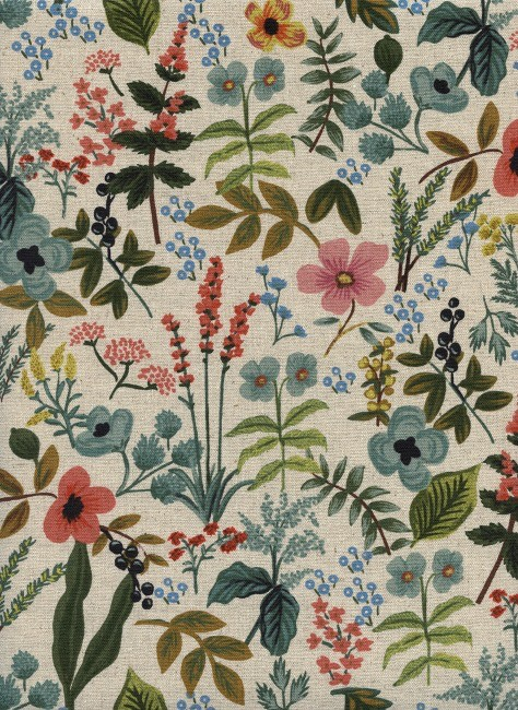 Rifle Paper Co. Linen/Cotton Canvas, Amalfi, Herb Garden in Natural, Fabric Half-Yards AB8054-012
