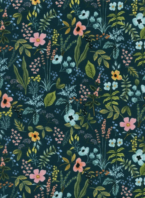 PD's Rifle Paper Co Collection Amalfi, Herb Garden in Navy, Dinner Napkin