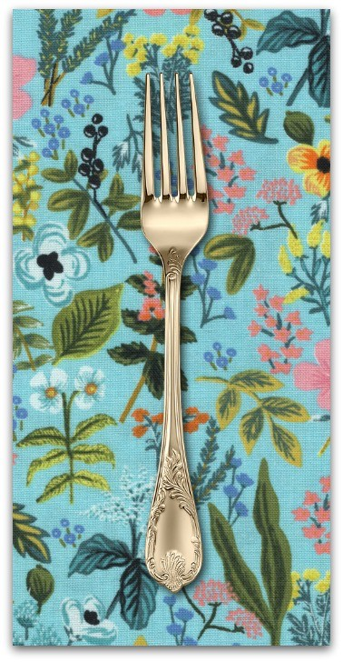 PD's Rifle Paper Co Collection Amalfi, Herb Garden in Mint, Dinner Napkin