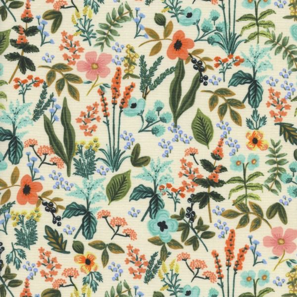 Rifle Paper Co. Amalfi, Herb Garden in Natural Unbleached Cotton, Fabric Half-Yards AB8044-001