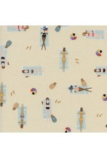 Rifle Paper Co. Amalfi, Sun Girls in Natural Unbleached Cotton, Fabric Half-Yards AB8047-003