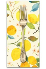 PD's Blend Fabrics Collection Limonella, Citrone in Ivory, Dinner Napkin