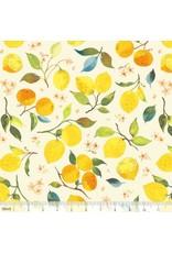 Blend Fabrics Limonella, Citrone in Ivory, Fabric Half-Yards 123.105.01.1