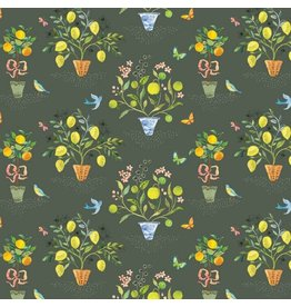 Blend Fabrics Limonella, Orangerie in Grey, Fabric Half-Yards 123.105.02.1
