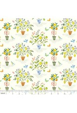 Blend Fabrics Limonella, Orangerie in Ivory, Fabric Half-Yards 123.105.02.2