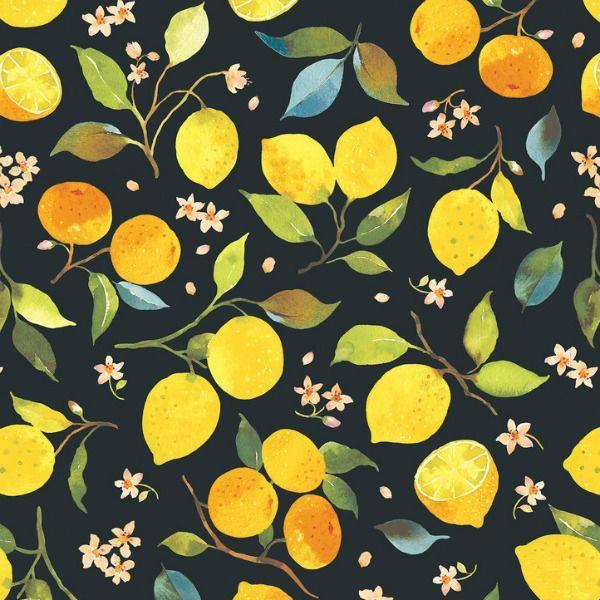 Blend Fabrics Limonella Citrone In Grey Fabric Half Yards 123 105 01 2