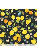 Blend Fabrics Limonella, Citrone in Grey, Fabric Half-Yards 123.105.01.2