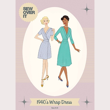Sew Over It Sew Over It 1940s Wrap Dress Paper Pattern