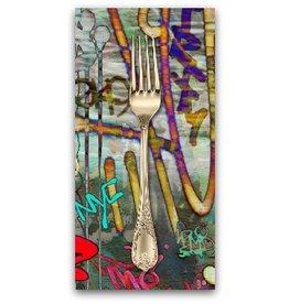 PD's P&B Collection Graphitti, Graffiti Printemps in Multi, Dinner Napkin