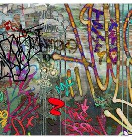 P & B Textiles Graphitti, Graffiti in Printemps Multi, Fabric Half-Yards 473626762
